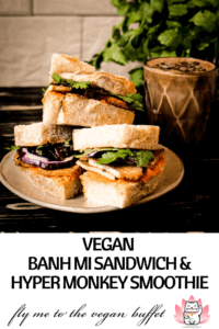 Make a tasty vegan banh mi sandwich and delicious hyper monkey smoothie yourself with my tutorial #vegan #hypermonkey #banhmi