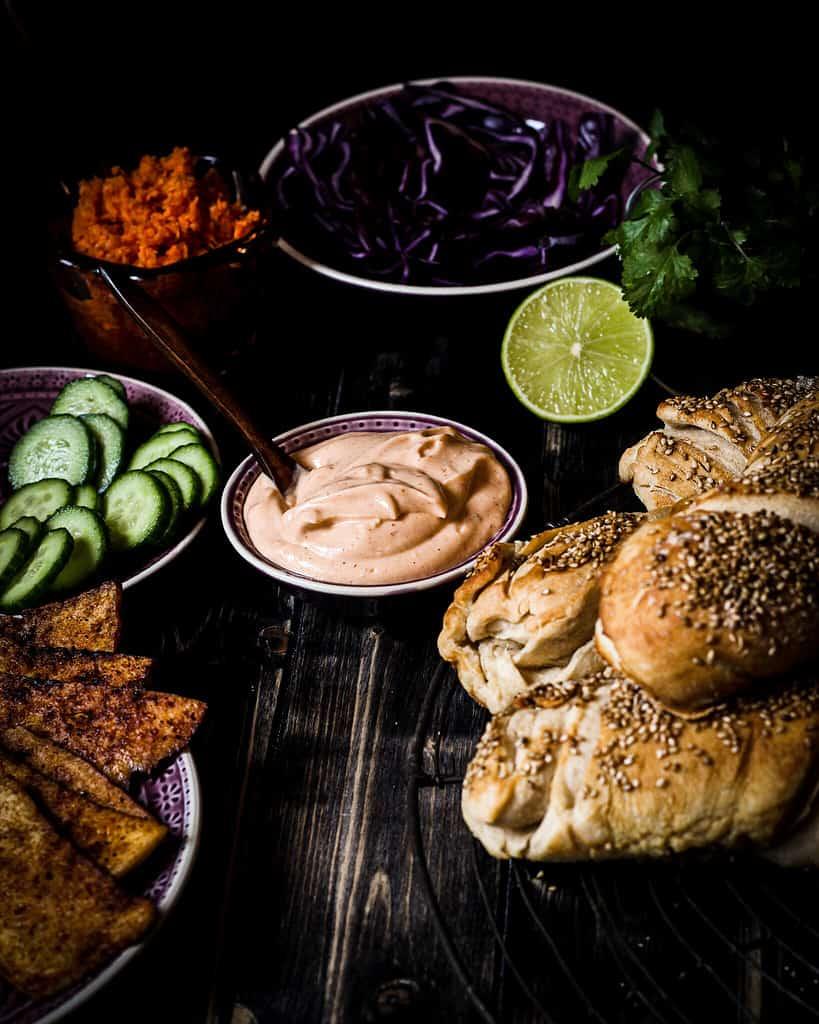 Banh mi sandwich ingredients