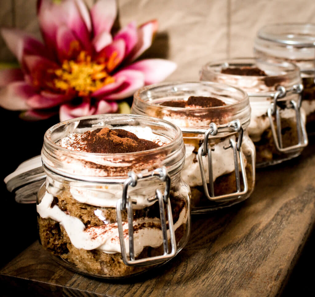 vegan orange tiramisu trifles