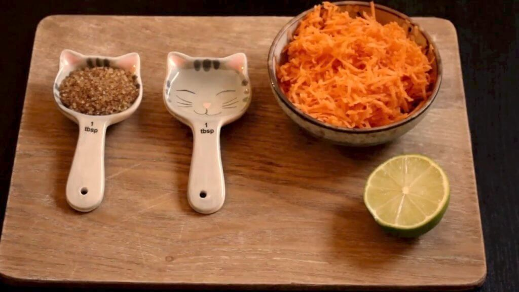 ingredients for pickled carrot