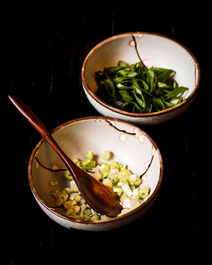 scallions for the tantan soup