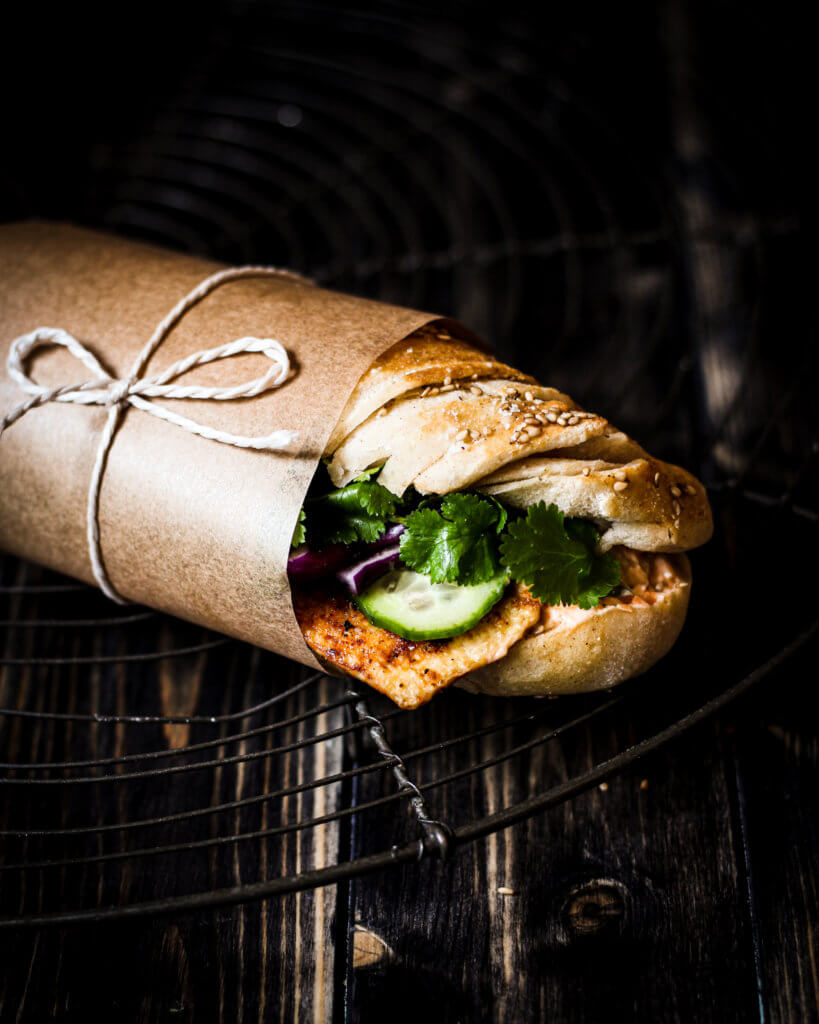 veganes banh mi-sandwich