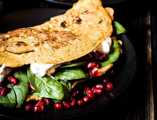 vegan potato omelette