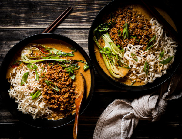 Bild von veganer japanischer Tantan Suppe