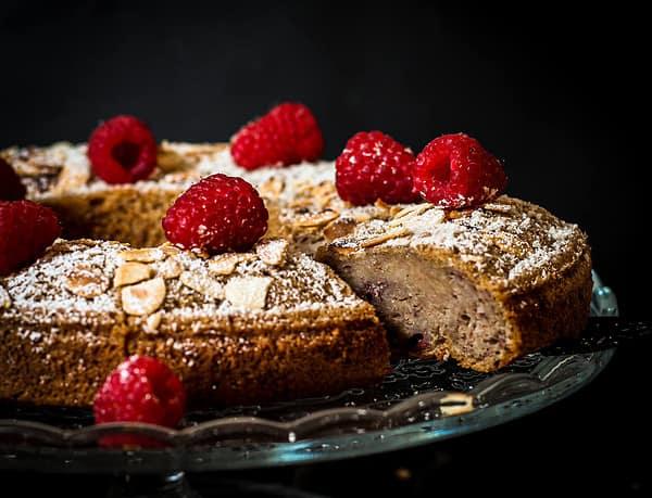 veganer Bananen-Himbeere-Kuchen