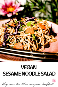 pin for vegan sesame noodle salad