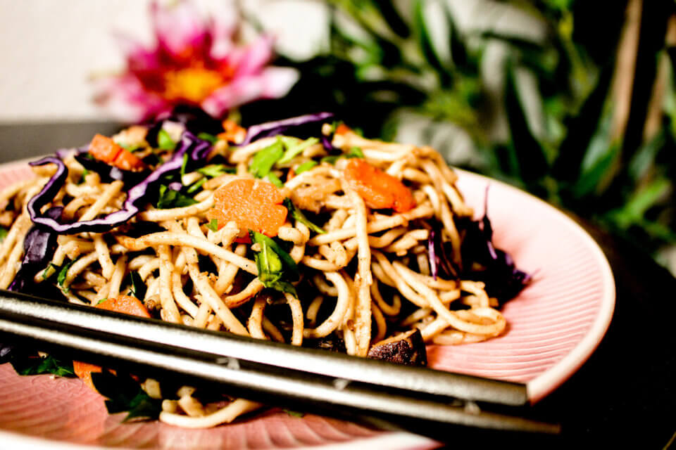 picture of sesame noodle salad