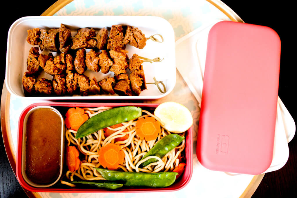 picture of Seitan satay in monbento box