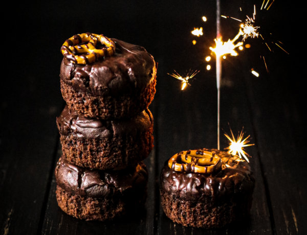 Bild von veganen Death by Chocolate & Irish Cream Muffins