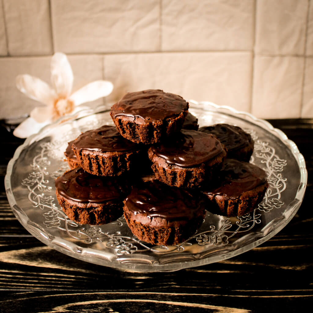 picture of vegan death by chocolate & Irish cream muffins