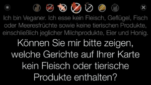 screenshots von veganen apps