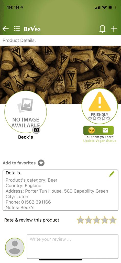 vegan apps: beveg