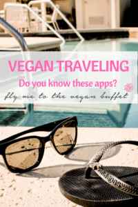pin for vegan traveling