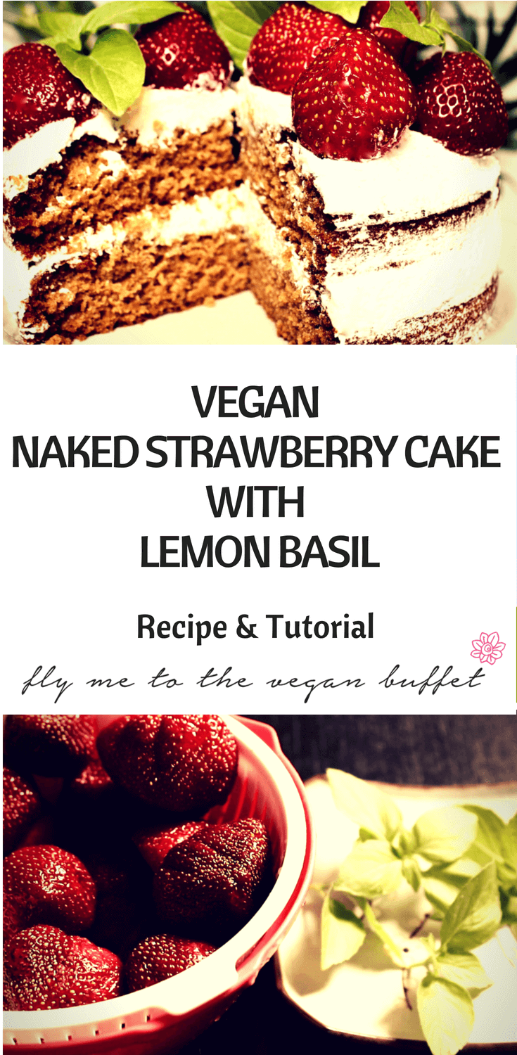 pin for vegan naked strawberry cake