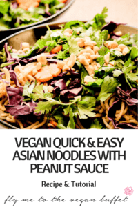 VEGAN QUICK & EASY ASIAN NOODLES WITH PEANUT SAUCE