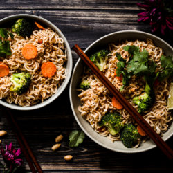 picture of noodles with peanut sauce
