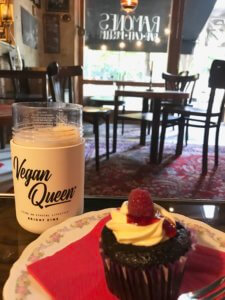 Picture of vegan queen cup at ramones museum