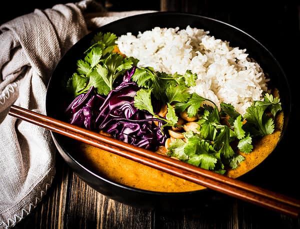 Bild von veganem Butternut-Aprikosen-Curry