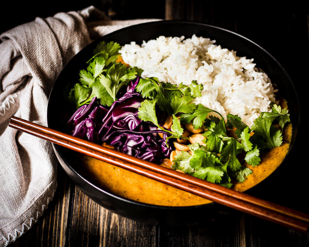 picture of butternut apricot curry
