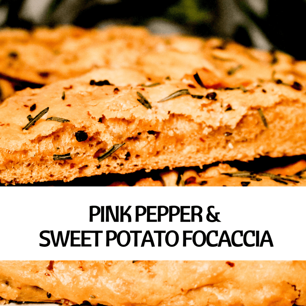 PICTURE OF VEGAN PINK PEPPER & SWEET POTATO FOCACCIA