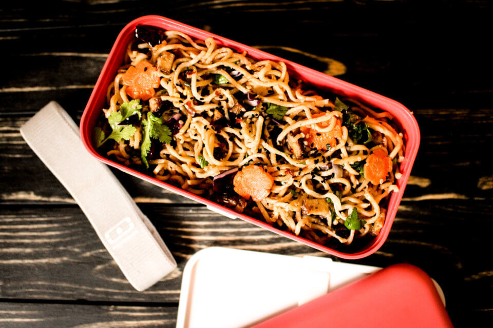 picture of Sesame Noodle Salad in Monbento Box
