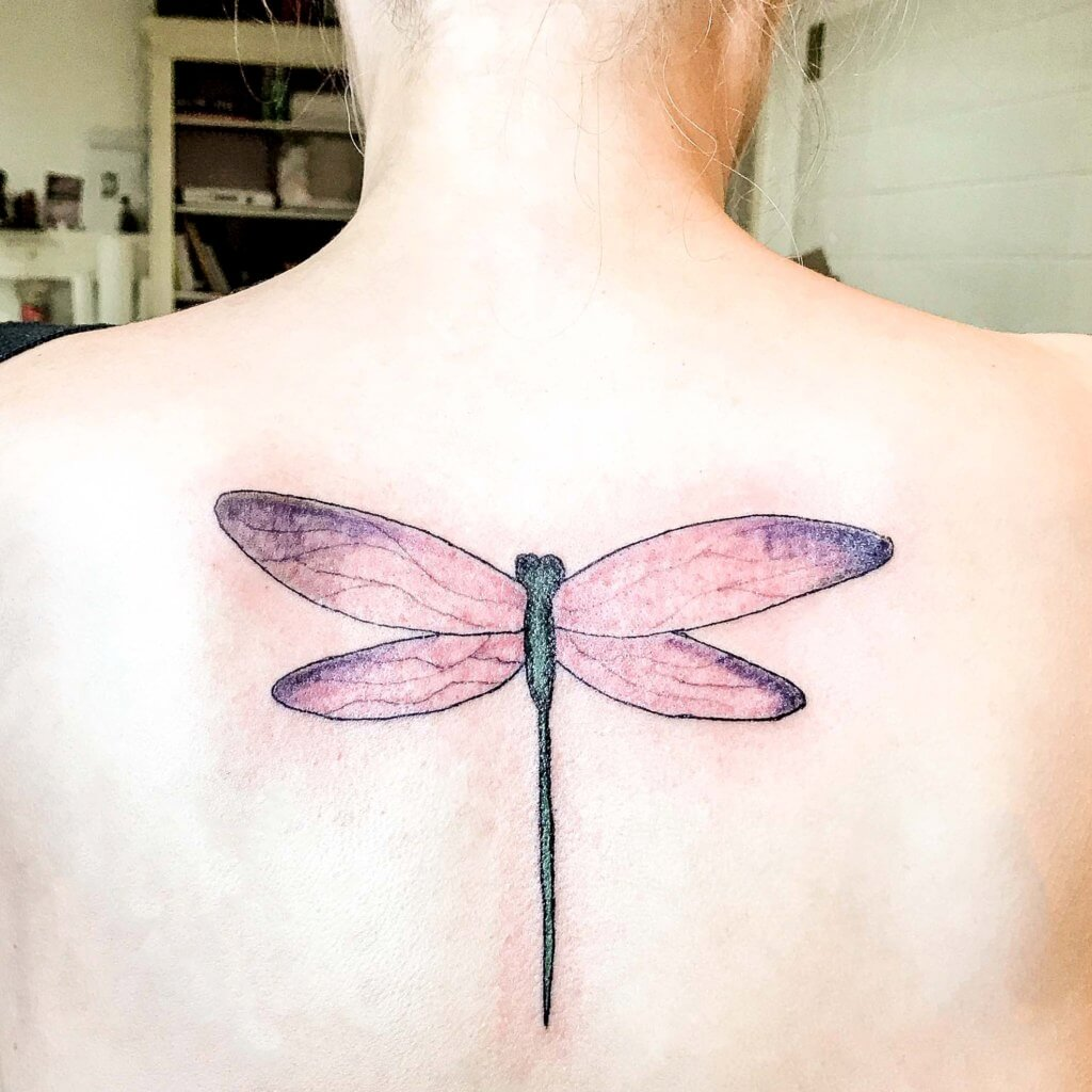 veganes libellen tattoo