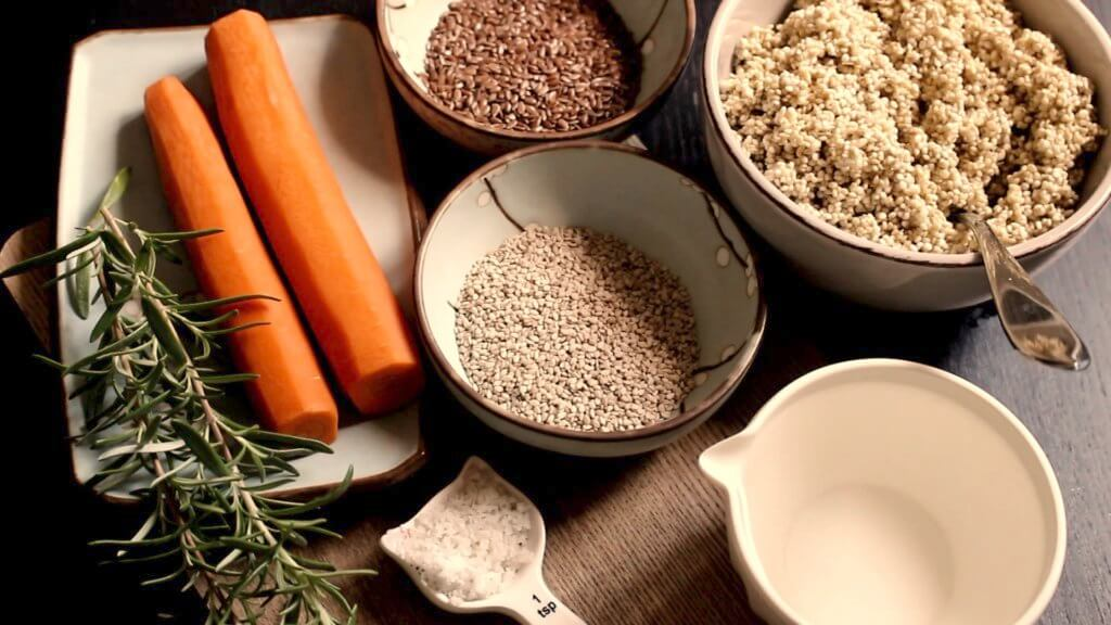 ingredients for quinoa flatbreads