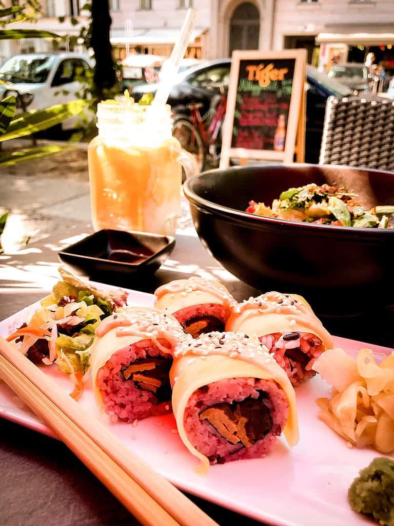 picture of food at vegan restaurant tiger club berlin