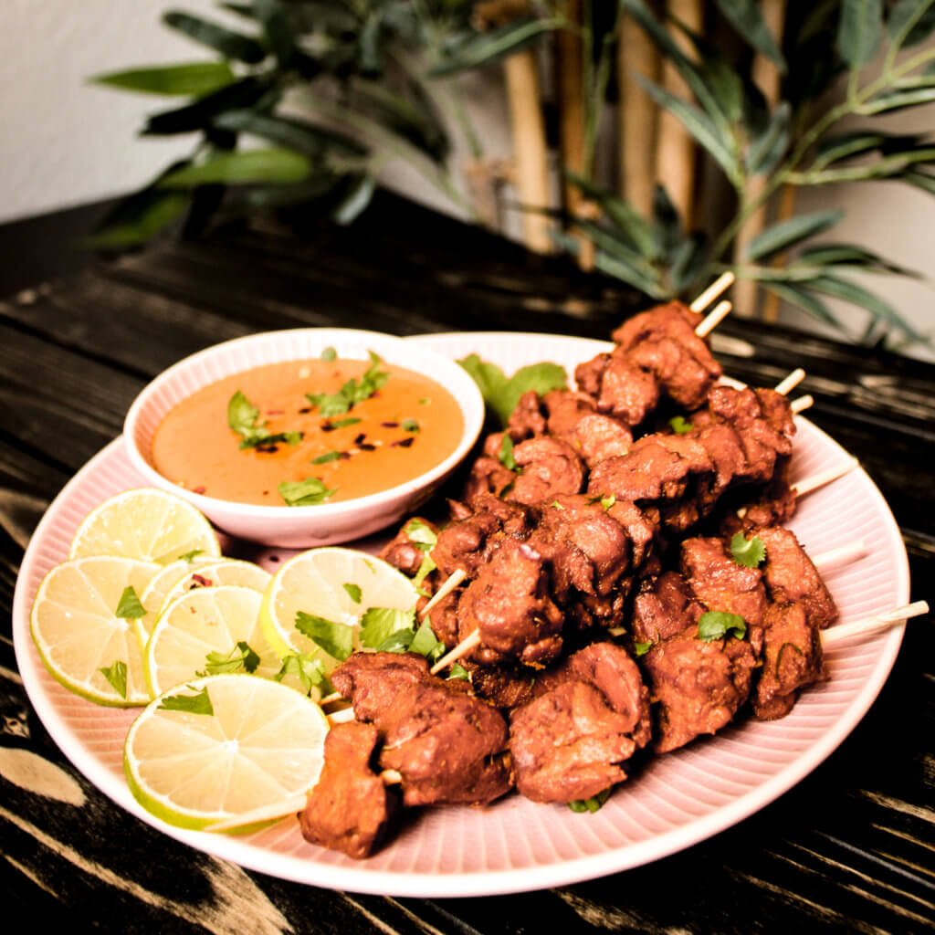 picture of seitan satay