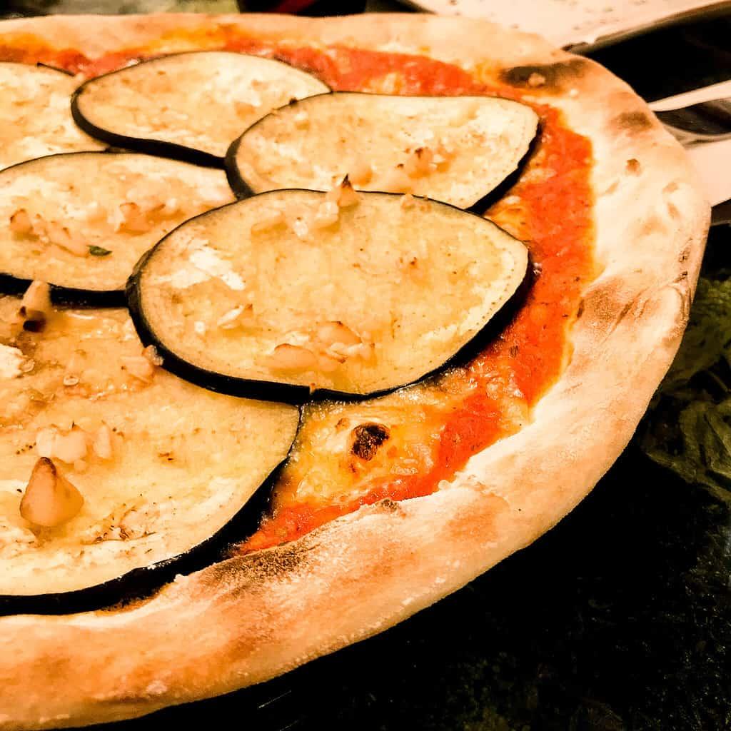 Bild von veganer Pizza