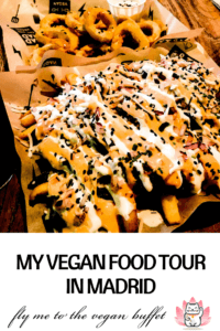 Read about my yummy vegan food tour with vegan tours madrid #vegantravel #veganmadrid #madrid
