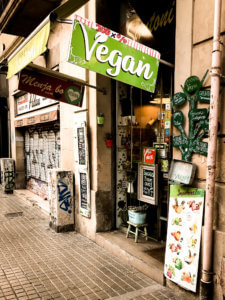 picture of vegan restaurant in Barcelona