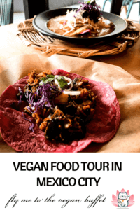 On this Roma Norte and Market for Vegans tour, I learned so much about Mexican food and culture. Oh, and all that yummy food I got to try! #mexicocity #vegantravel #veganmexico