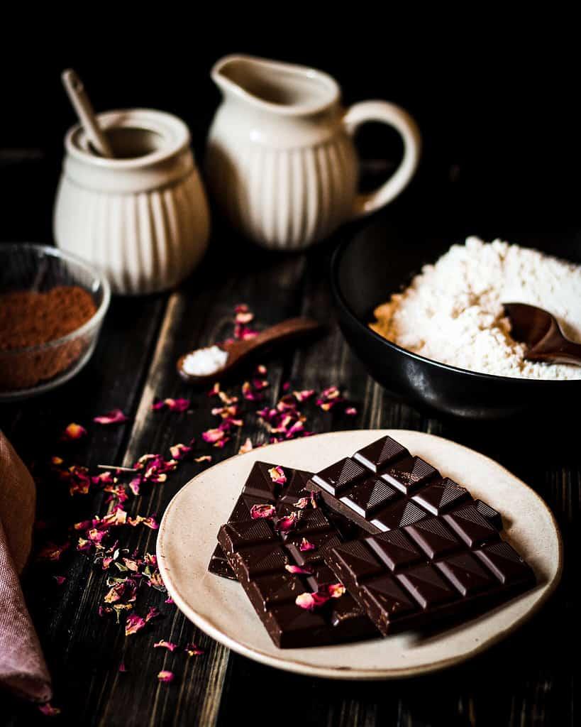 Zutaten für den Schokoladenkuchen