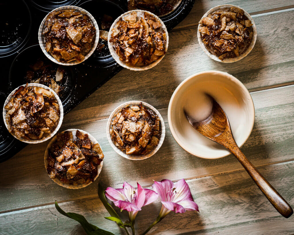 PICTURE OF VEGAN COCONUT MAPLE BACON MUFFINS FOOD PHOTOGRAPHY