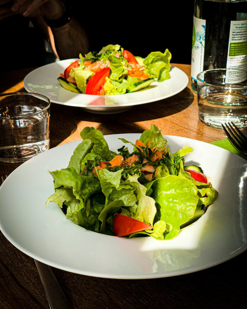 lunch salad at Almodovar Hotel Berlin