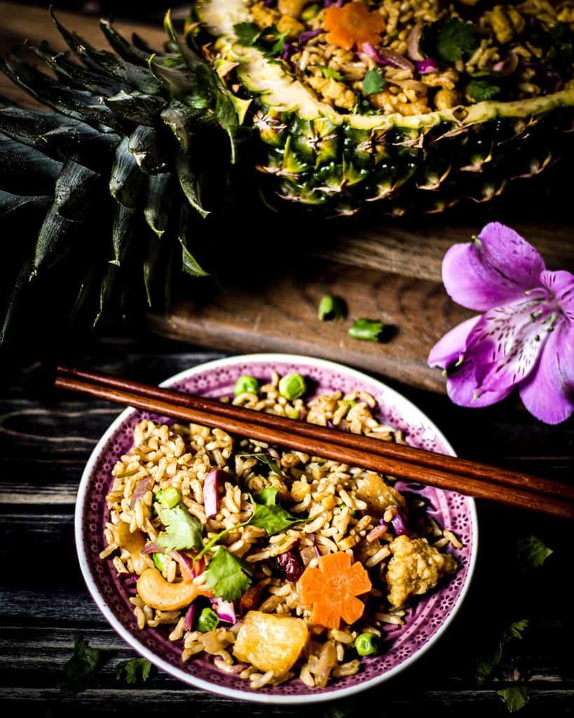 Bild von Ananasreis mit veganem Ei