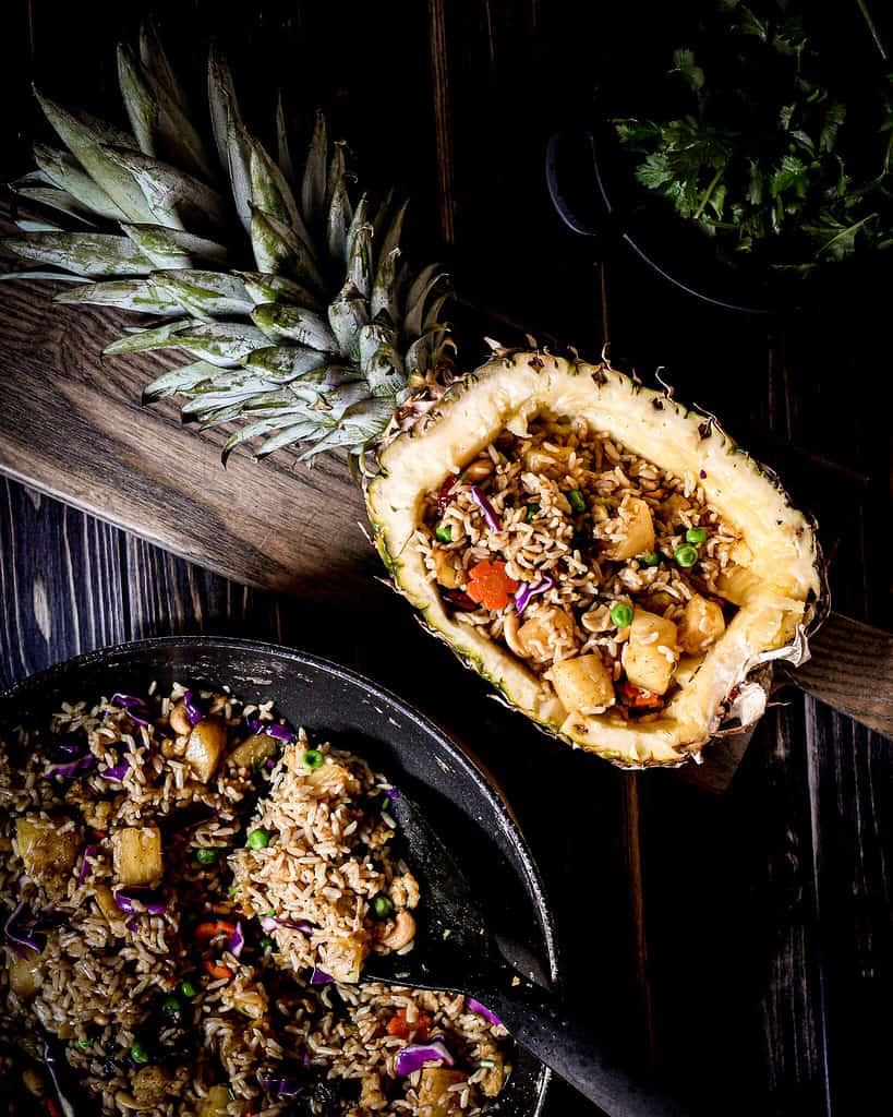 Bild von Ananasreis vegan