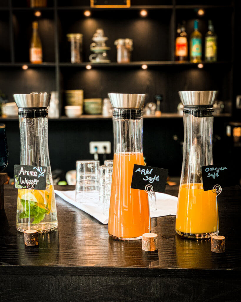 juices at Almodovar Hotel Berlin