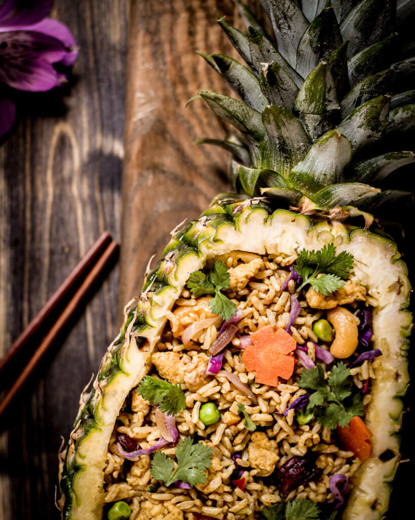 picture of pineapple with pineapple rice