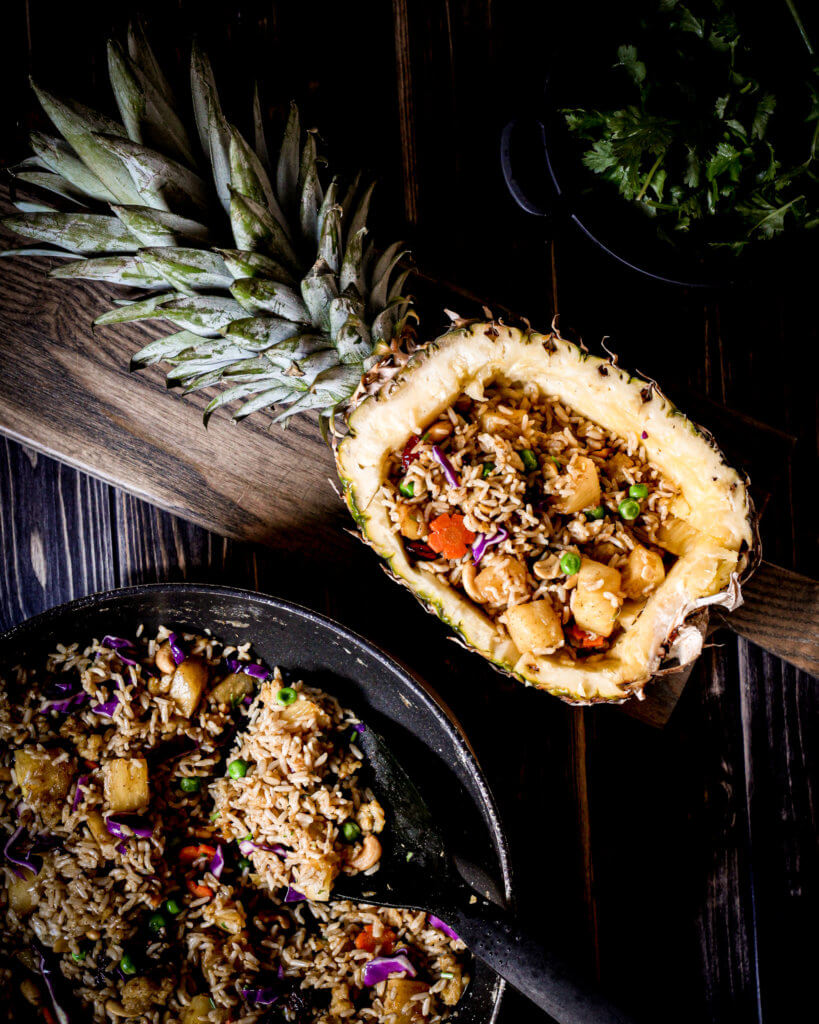 picture of vegan pineapple rice