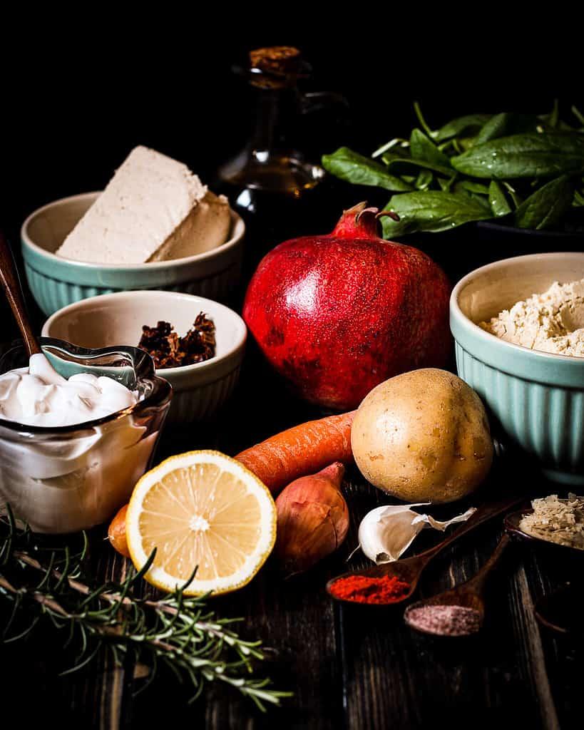Zutaten für Kartoffel-Omelett