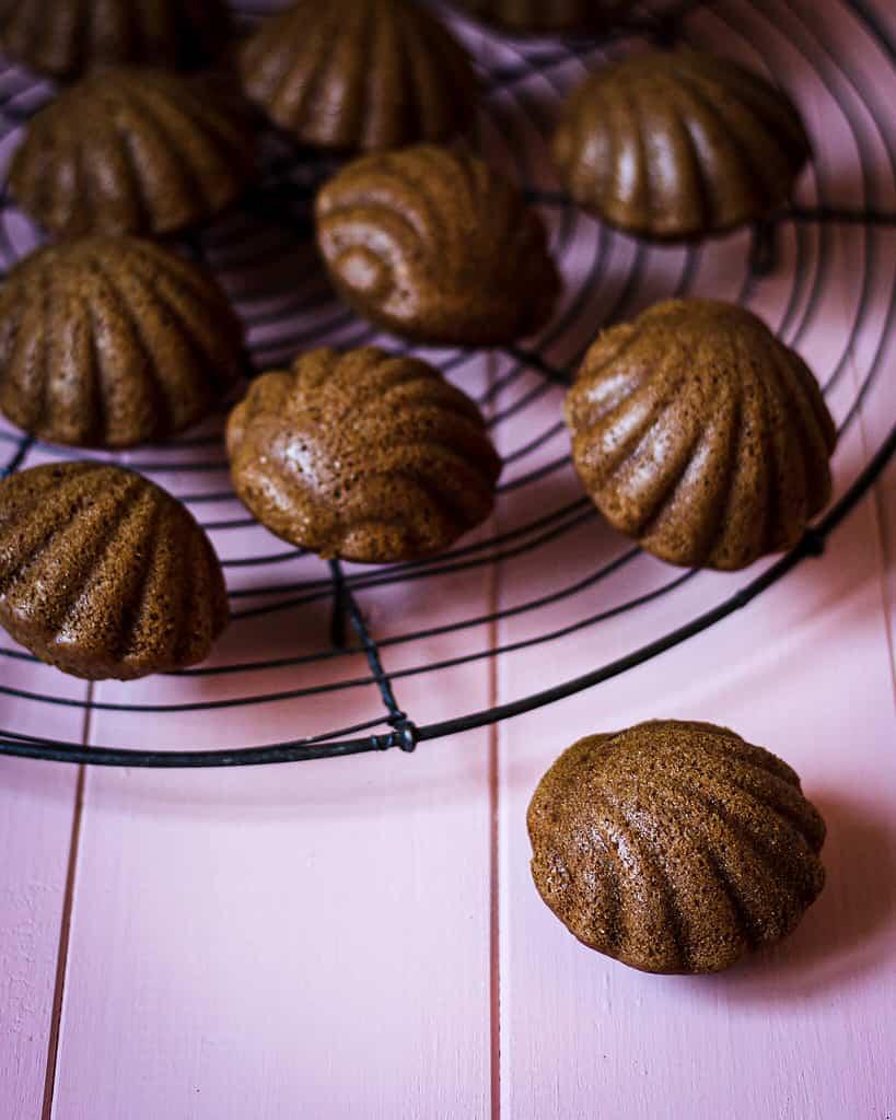 Chai-Madeleines fertig gebacken