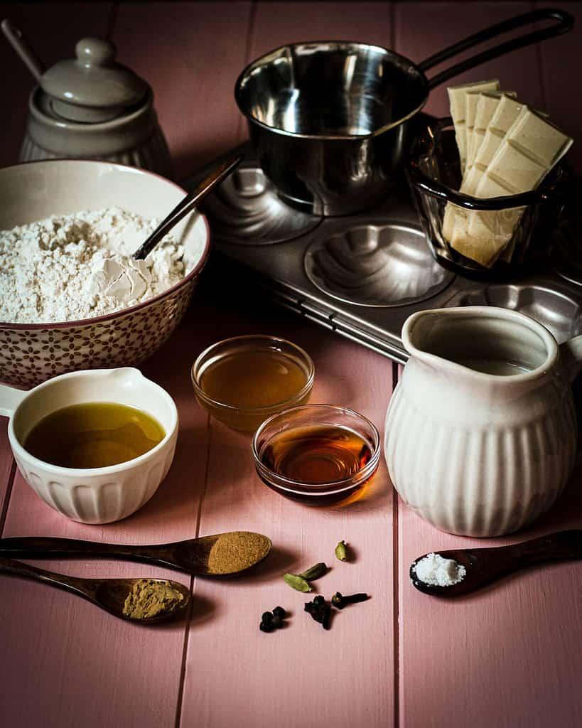 Zutaten für die Chai-Madeleines
