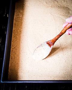 spreading the dough