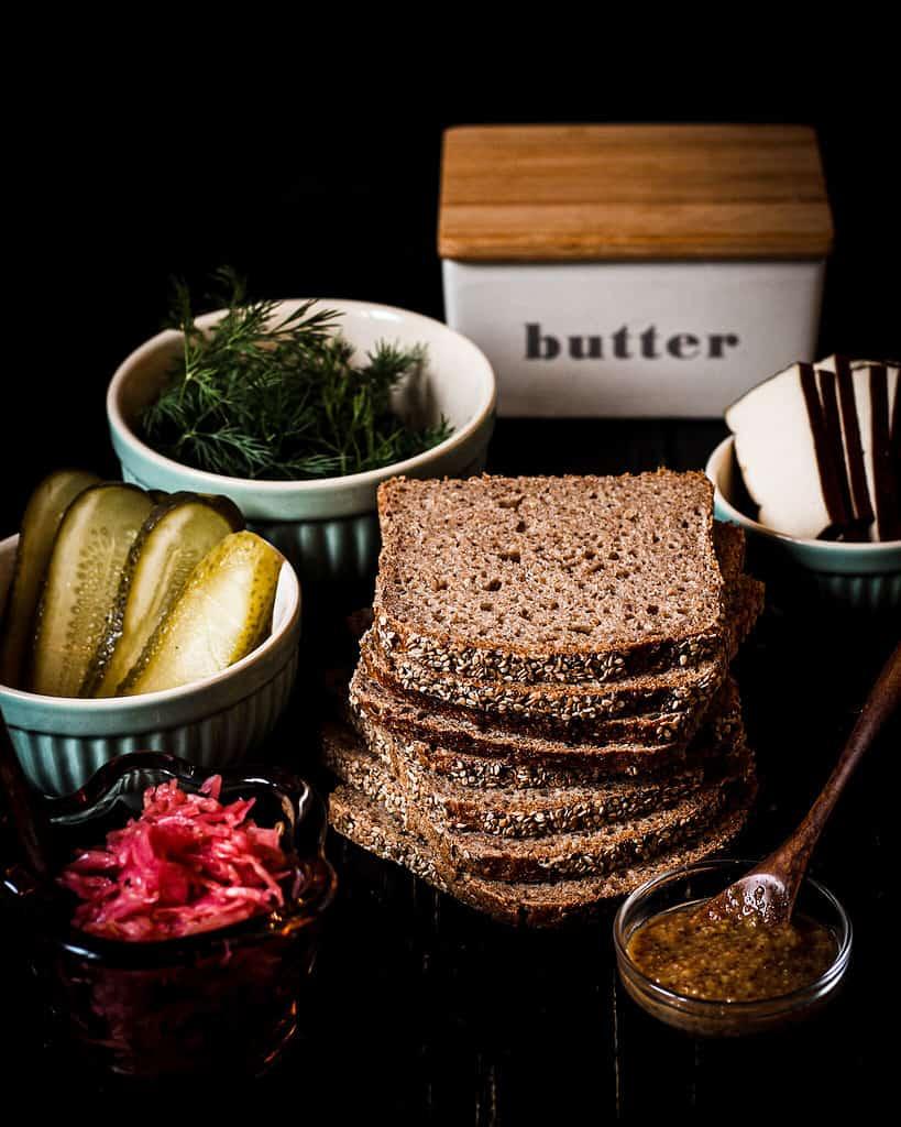 ingredients for the sauerkraut sandwich