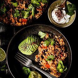 picture of vegan tomato rice