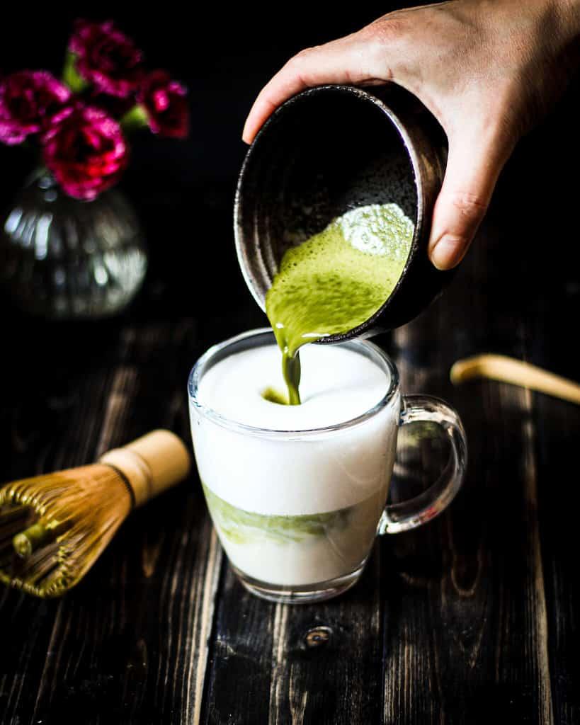 matcha latte/ Nina Bolders Food Photography