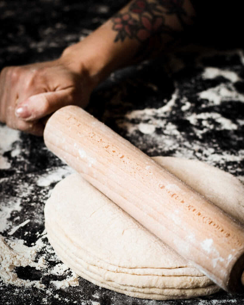rolling out dough/ Nina Bolders Food Photography
