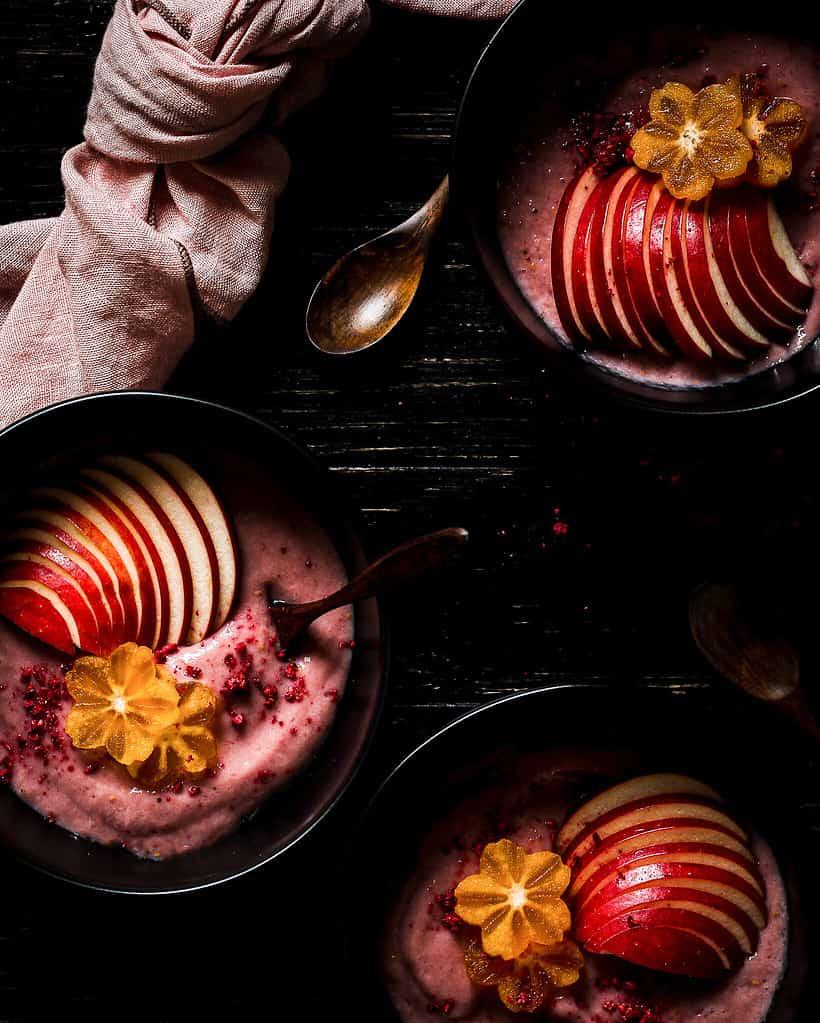 Fruit pudding bowls/ Nina Bolders Food Photography